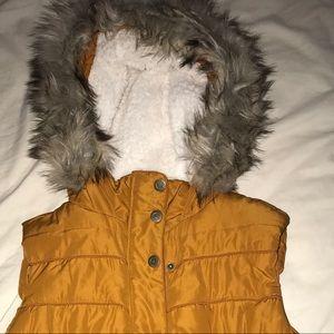 Aeropostale Fur Hood Vest